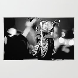 Motorbike-B&W Rug