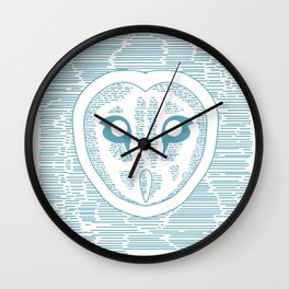 Owl Lines Wall Clock