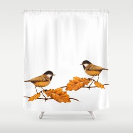On The Oakleaf Shower Curtain