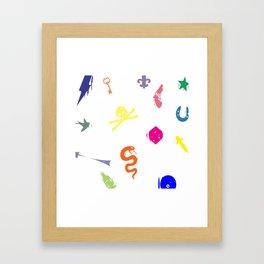 Bully Print Rainbow inverse Framed Art Print