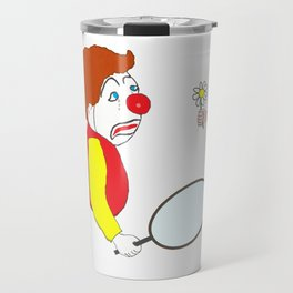 The Clown and the Flower Travel Mug