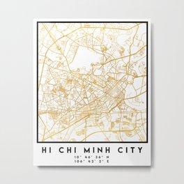 HI CHI MINH CITY STREET MAP ART Metal Print
