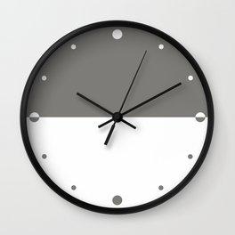 Gray & White Wall Clock
