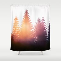 surrealism Shower Curtains featuring Morning Glory by Tordis Kayma