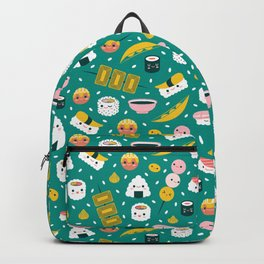 Happy sushi pattern Backpack