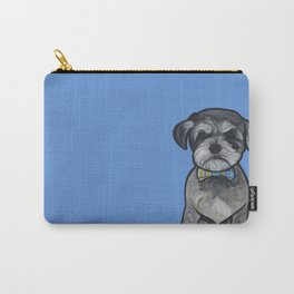 Gus the schnauzer mix Carry-All Pouch