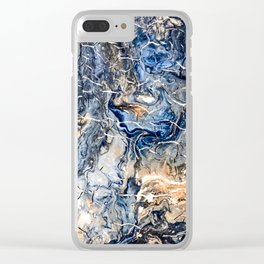 Breaking Waves Abstract Painting Clear iPhone Case