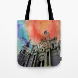 Water Color Cathedral Tote Bag