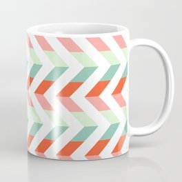 Chevron Raspberry and Peach - Geometric pattern  Coffee Mug