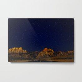 Night Sky Full of Stars Landscape Photography Metal Print