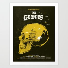 The Goonies art movie inspired Art Print
