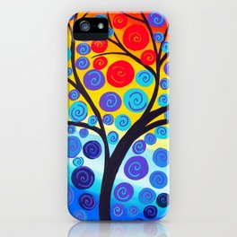 red tree of life iPhone Case