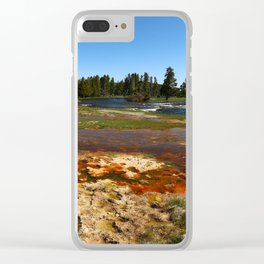 Firehole River Colors Clear iPhone Case