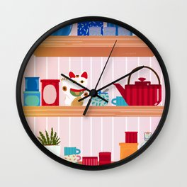 Shelves Wall Clock