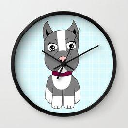 Cartoon Boston Terrier Wall Clock