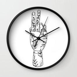 Botanical Mannequin Hand Wall Clock