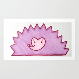 Blushing Hedgehog Art Print
