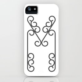"""Letter """"M"""" in beautiful design Fashion Modern Style iPhone Case"""