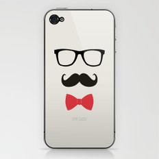 STAY CLASSY - MUSTACHE & BOW TIE  iPhone & iPod Skin