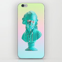 Bust of a Weeping Man (In Ice Blue Gradient) iPhone Skin