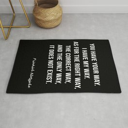 Nietzsche On The Correct Way Rug