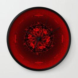 Red orbiting star Wall Clock