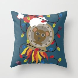 Spacebear from Wandering Way Christmas Throw Pillow