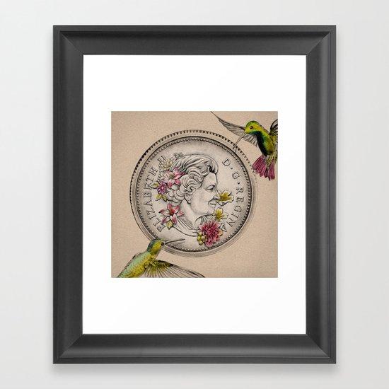 Our Beauty Queen Framed Art Print