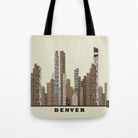 denver Tote Bags featuring Denver by bri.buckley