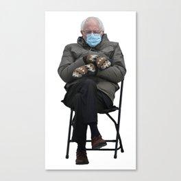 Unbothered Bernie Sanders Canvas Print