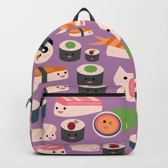 Kawaii sushi purple Backpack