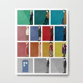 Doctor Who? Metal Print