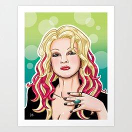 Cyndi Lauper Art Print