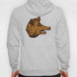 Brown Boar Hoody