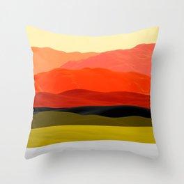 Mountains in Gradient Throw Pillow