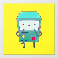 beemo Canvas Prints featuring BEEMO by Meder Taab