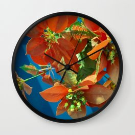 Fiore Flowers  #Society6  #buy art  #decor Wall Clock