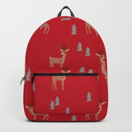 Rudolph christmas santa's reindeer forest winter deer Backpack