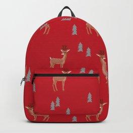 Rudolph christmas santa's reindeer forest winter deer Backpack