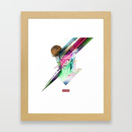 Glitchin Sane 001 Framed Art Print