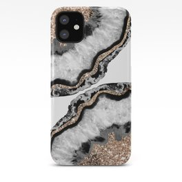 Yin Yang Agate Glitter Glam #7 #gem #decor #art #society6 iPhone Case