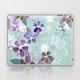 Summer blossom, blue and purple Laptop & iPad Skin