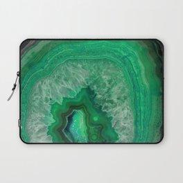 Green Emerald Agate Laptop Sleeve