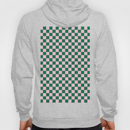 Cotton Candy Pink and Cadmium Green Checkerboard Hoody