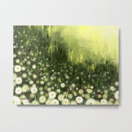 Bliss flower abstract Metal Print