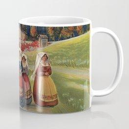 Abruzzo Italian travel back from church Coffee Mug