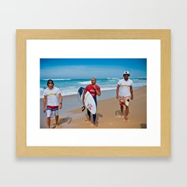 Pro Surfer & Legend Kelly Slater Framed Art Print