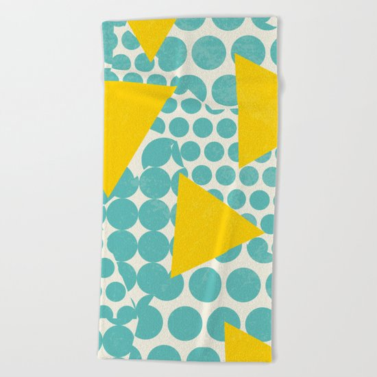 Dots and Triangles Beach Towel