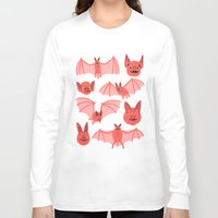 bats Long Sleeve T-shirts featuring Bats by Jack Teagle