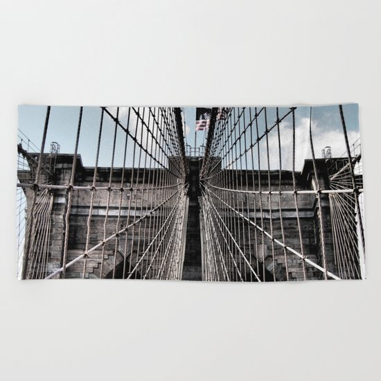 Iron Strung - Brooklyn Bridge Beach Towel